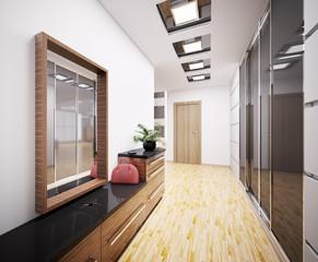 Modern Flur interior 3d