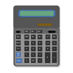 vector illustration with offices calculator