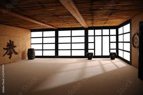fototapete dojo 02 japan zen zimmer. Black Bedroom Furniture Sets. Home Design Ideas