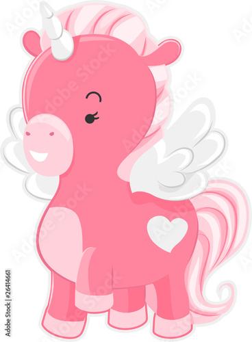 Poster Pony Cute Pink Unicorn