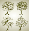 Designs with decorative tree from leafs