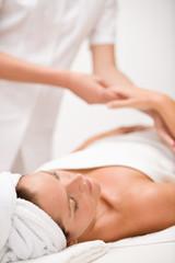Luxury care - woman at massage