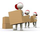 3D Man shipping department