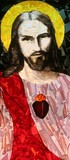 Sacred Heart of Jesus, stained glass