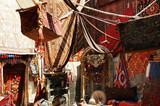Turkish carpet store, bazaar poster