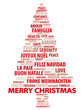 Tree of words. Christmas card