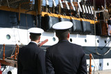 Two Sailors in Uniform