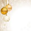 good-looking Christmas backdrop with three balls