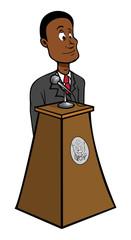 President black podium