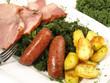 Grünkohl mit Kassler und Kartoffeln