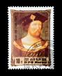 North Korean stamp featuring British monarch Henry VIII