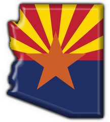 Arizona (USA State) button flag map shape