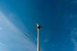 Elektrownia wiatrowa - wirnik w ruchu