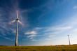 Elektrownie wiatrowe - wirnik w ruchu