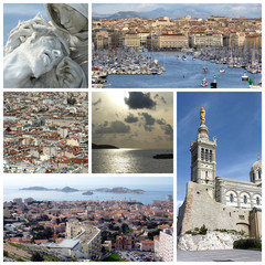 Marseilles, France, collage