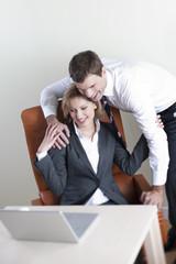 Happy business couple