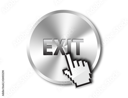 Exit button vector