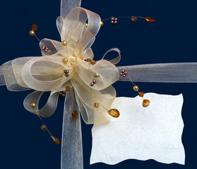 gift box with decorative ribbon