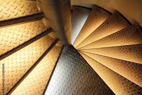 escalier m tal lumineux de benoit sarasin photo libre de droits 26434644 sur. Black Bedroom Furniture Sets. Home Design Ideas