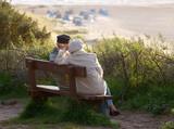 Fototapety Senioren Abend Sonne Küste - Seniors Sunset Coast