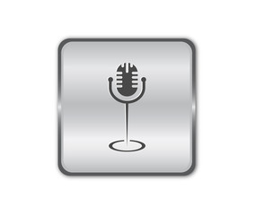 Chrome microphone button vector