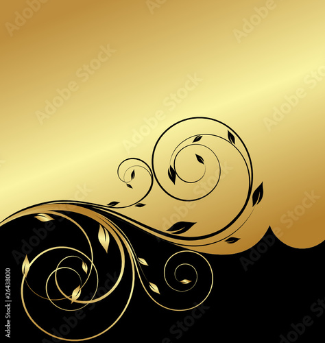 gold floral abstraction