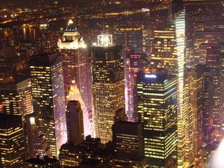 New York Noche edificio Metife