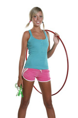 Woman with hula hoop