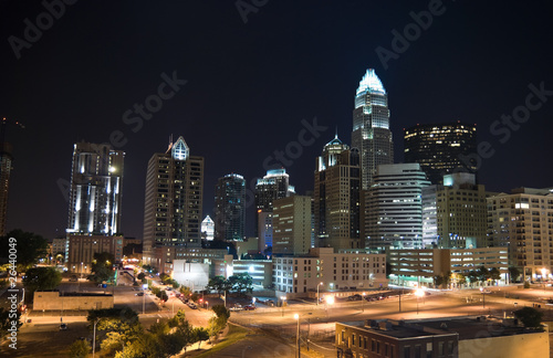 City at night, Charlotte