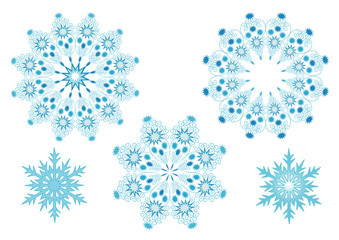 vector illustration with snowflakes