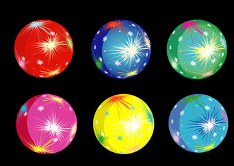 vector illustration with christmas balls