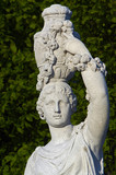 the detail of antique statue, Vienna, Schonbrunn garden