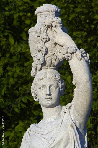 the detail of antique statue, Vienna, Schonbrunn garden