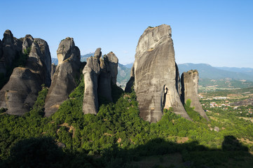 Group Of Rocks In Meteora