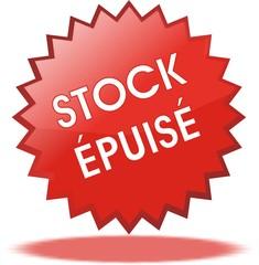 étiquette stock épuisé