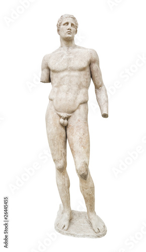 Statue in Delphi museum, Greece