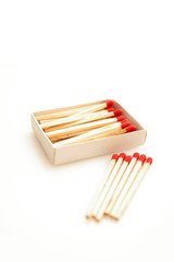Matches isolated on white background