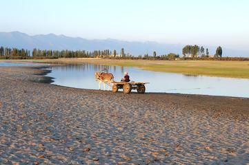 horseman ashore