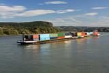 Binnenschiff auf Rhein