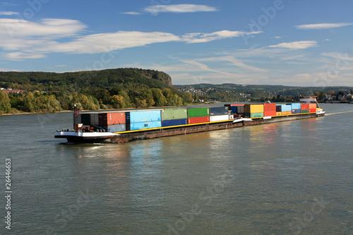 Binnenschiff auf Rhein - 26446653