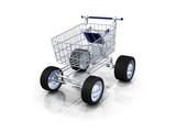 E-commerce caddie livraison express 3D poster