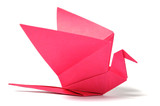 Origami bird over white - Fine Art prints
