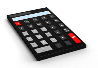 3d Calculator on a white