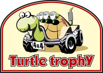 Funny label for off-road trophy (vector)