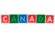 canada in toy block letters