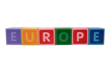 europe in toy blocks