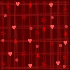 sfondo natalizio rosso