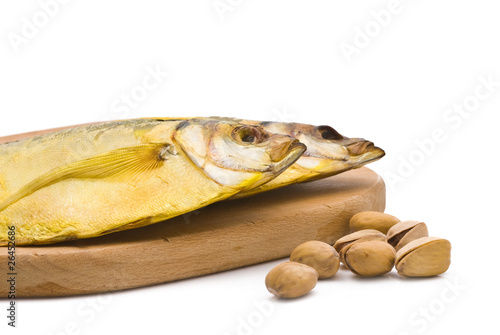 Salted moonfish isolated on white background