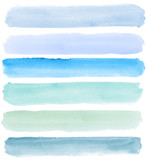Fototapety watercolor banners