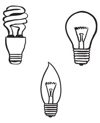lightbulb doodles